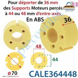 CALE364448 Cale qui permet déporter de 36 mm des Supports Moteurs  Percés à 44 ou 48 mm d'entre-axes