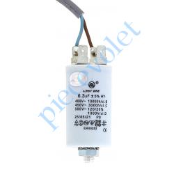 CDDEM450V6.3MFCF Condensateur Permanent à Cosses & à Fils 6,3µF ±5% 450 v