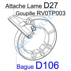 D106 Bague de Verrou de Fixation Directe sur Tube Deprat 89 ø Ext 134 - 152 mm
