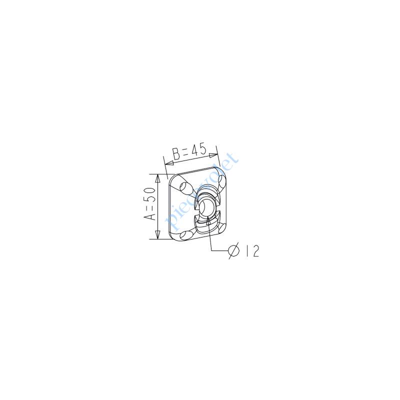 D116 ZF: Guide à Rotule ø 12 mm Coloris Blanc Avec Vis