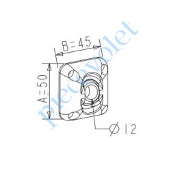 D117 ZF: Guide à Rotule ø 12 mm Coloris Gris Avec Vis