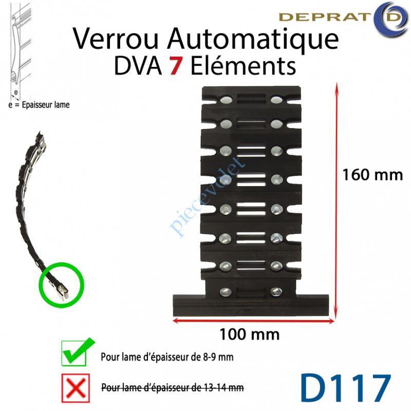 D117-1 Verrou Automatique Dva 7 éléments pour lames 8-9 mm