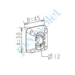D118 ZF: Guide à Rotule ø 12 mm Coloris Marron Avec Vis