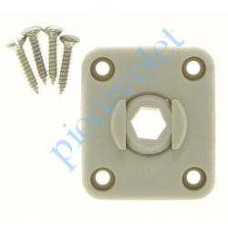 D120 ZF: Guide à Rotule Hexa 10 mm Coloris Gris Avec Vis