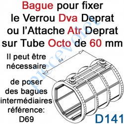 D141 Bague de Verrou Automatique Dvr ou d'Attache Atr pour tube Octo 60