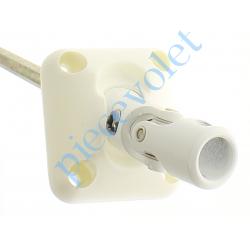 D171NG Sortie Bloc-Guide 45° Platine 44x50 Genouillère ø12 Femelle-Hexa7 lg 165 Avec Vis Coloris Blanc