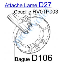 D27 Elément d'interface entre Lame de 75 x 20 & Bague D106