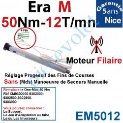 EM5012 Moteur Nice Filaire Era M 50/12 Avec FdC Manuels Série M (Medium ø45mm) sans Mds