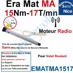 EMATMA1517 Moteur Nice Radio Era Mat MA 15/17 Av FdC Electro & Fréquence 433,92MHz Rolling Code M 50 sans Mds