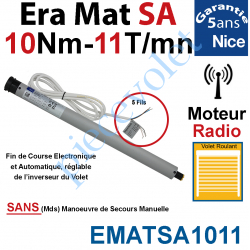 EMATSA1011 Moteur Nice Radio Era Mat SA 10/11 Av FdC Electro & Fréquence 433,92MHz Rolling Code S 35 sans Mds