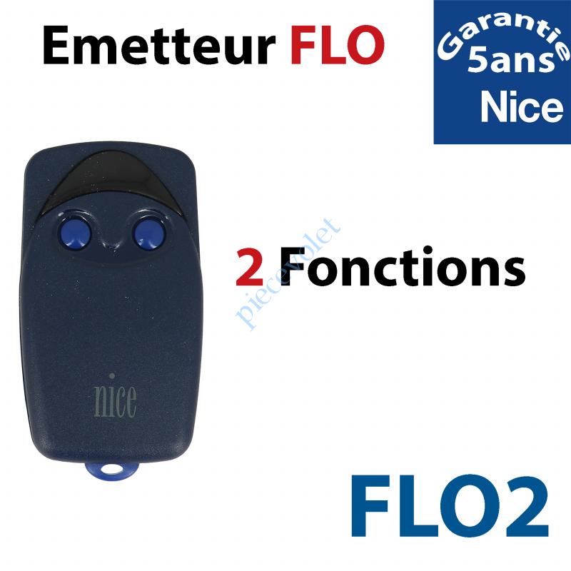 FLO2 Emetteur Flo 2 Fonctions 433,92MHz Combinaison Fixe à Switchs 1024 Combinaisons