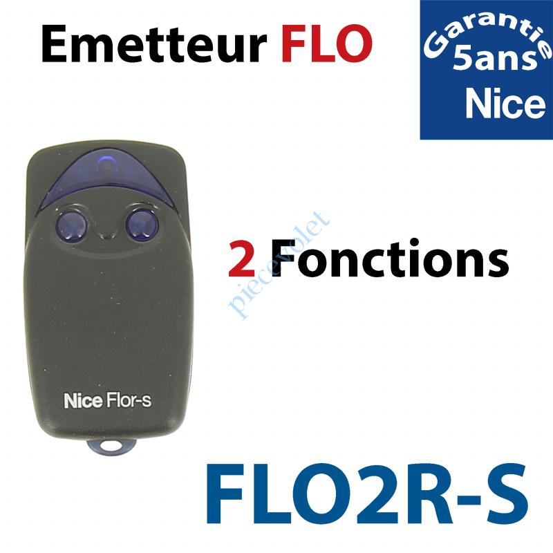 FLO2R-S Emetteur Flor 2 Fonctions 433,92MHz Rolling Code