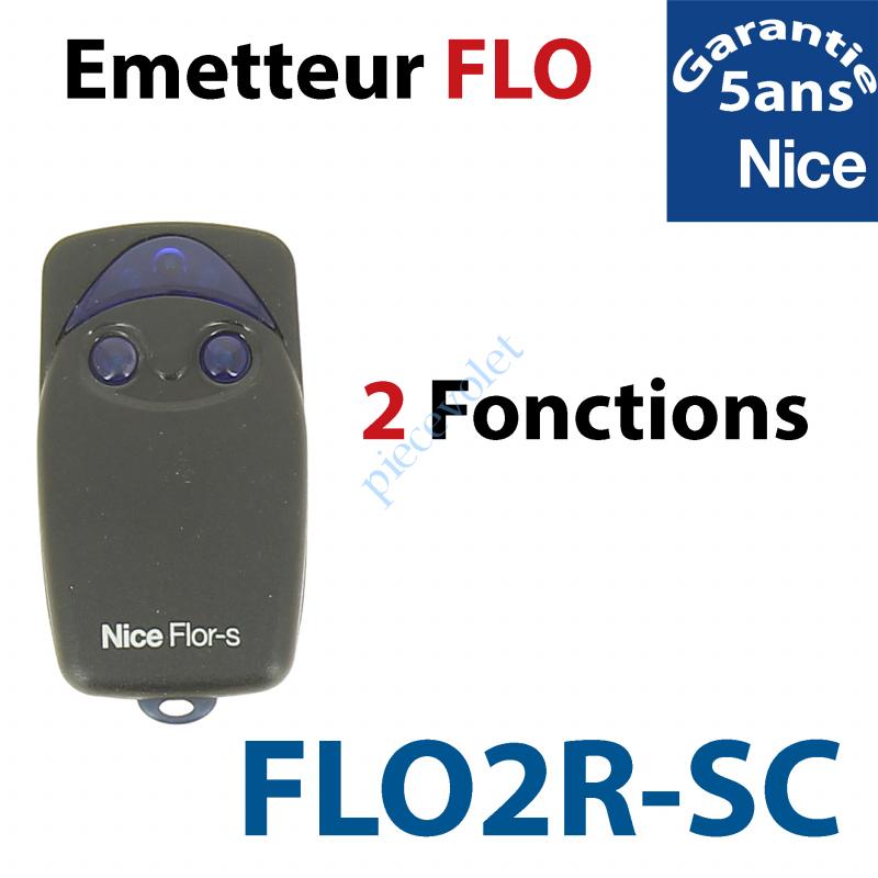 FLO2R-SC Emetteur Flor-sc 2 Fonctions 433,92MHz Rolling Code Numérotés