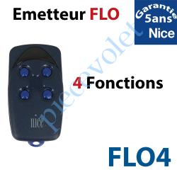 FLO4 Emetteur Flo 4 Fonctions 433,92MHz Combinaison Fixe à Switchs 1024 Combinaisons