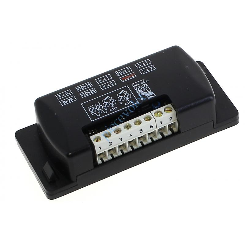 FLOX2 Récepteur Mini 12-24 v ca/cc 2 canaux 433,92MHz Combinaison Fixe à Switchs