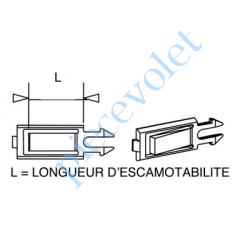 G159 Clip butée pour embout/poulie monobloc