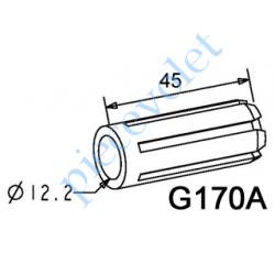 G170A Moyeu Simple Alésage ø 12,2 mm Longueur 45 mm se Monte sur Embout Flasque Monobloc