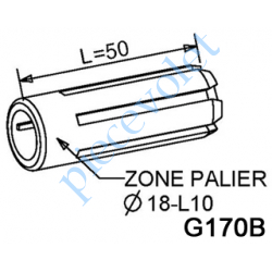 G170B Moyeu Simple ø 18 Longueur 43 mm Portance 10 mm se Monte sur Embout Flasque Monobloc