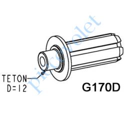 G170D Moyeu à Collerette Cylindrique de 2 mm à Téton ø 12 mm se Monte sur Embout Poulie Monobloc