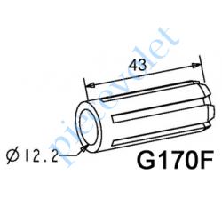G170F Moyeu Simple Alésage ø 12,2 Longueur 43 mm se Monte sur Embout Flasque Monobloc