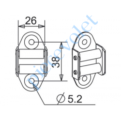 G201 Guide Sangle Acier Nickelé Chromé à 2 Galets pour Sangle de 20 mm