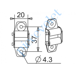 G204 Guide Sangle Acier Zingué à 2 Galets pour Sangle de 17 mm