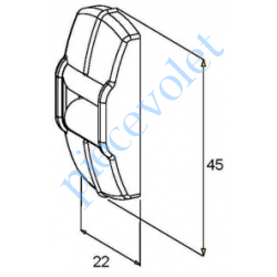 G217 Guide Sangle Blanc à 1 Galet pour Sangle de 15 mm Maxi