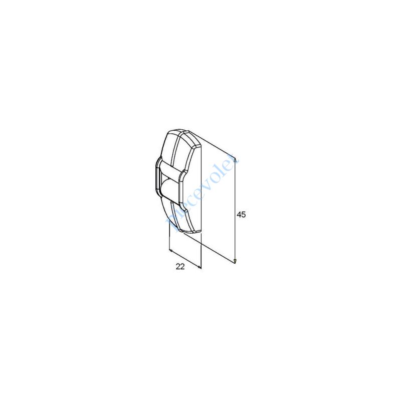 G217 Guide Sangle Blanc à 1 Galet pour Sangle de 15 mm Maxi