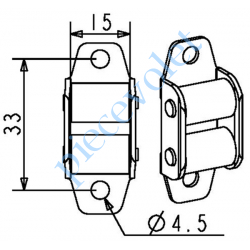 G280 Guide Sangle Acier Laqué Blanc à 2 Galets pour Sangle de 14 mm