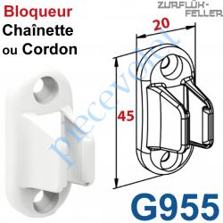 G955 Bloqueur de Chaînette ou de Cordon Coloris Blanc