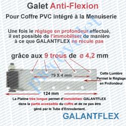 GALANTFLEX Galet Anti-Flexion ø 16,5 mm à Encombrement Très Réduit & Fixation Réglable Déportée