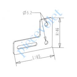 H462 Equerre de Bras de Projection en Aluminium Coloris Blanc