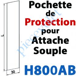 H800AB Protection en Polyéthylène Incolore pour les Attaches Souples
