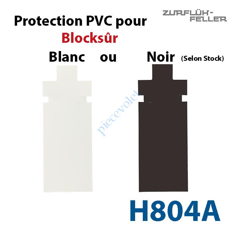 H804A Protection pour Verrou Automatique Blocksûr en Pvc Noir