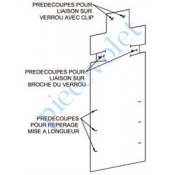H804AA Protection pour Verrou Automatique Blocksûr en Pvc Blanc
