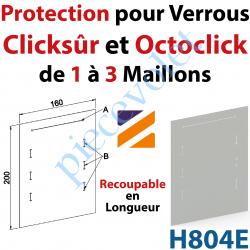 H804E Protection pour Verrou Automatique Clicksûr ou OctoClick en Pvc Incolore