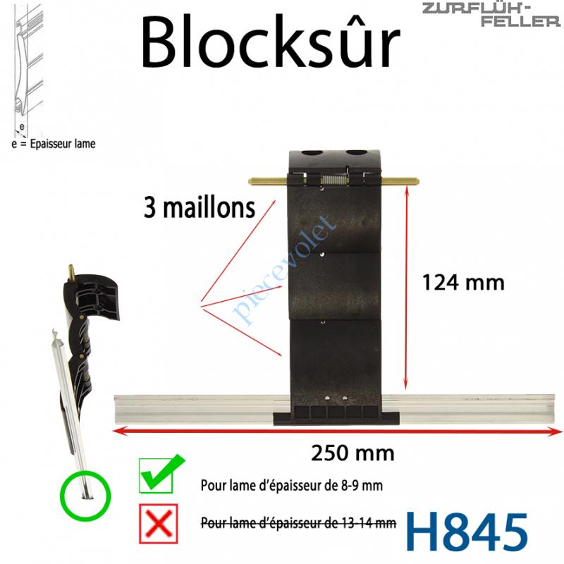 H845 Verrou Automatique Blocksûr de 3 Maillons pour Lame 8-9 mm d'épaisseur