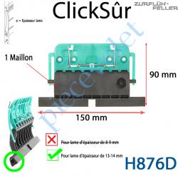 H876D Verrou Automatique Clicksûr de 1 Maillon + Fil pour Lame 13-14 mm d'épaisseur