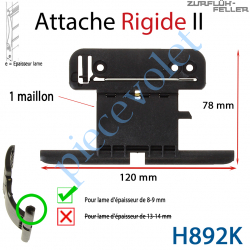 H892K Attache Rigide II de 1 Maillon + Fil pour Lame 8-9 mm