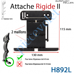 H892L Attache Rigide II de 2 Maillons+ Fil pour Lame 8-9 mm