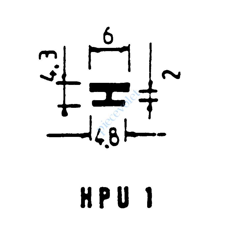 HPU1N Joint Noir pour Coulisses de Traditionnel Lames de 13 mm -14 mm