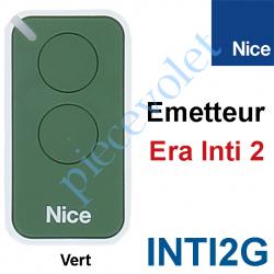 INTI2G Emetteur Era Inti 2 Fonctions 433,92MHz Rolling Code Coloris Vert