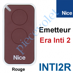 INTI2R Emetteur Era Inti 2 Fonctions 433,92MHz Rolling Code Coloris Rouge