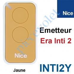 INTI2Y Emetteur Era Inti 2 Fonctions 433,92MHz Rolling Code Coloris Jaune