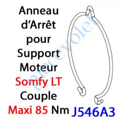 J546A3 Anneau d'Arrêt Simple en Inox pour support LT 50 & 60
