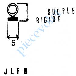 JLFBCN Joint Noir Tubulaire Bi-Dureté à Monter sur Lame Finale de 8 mm -9 mm