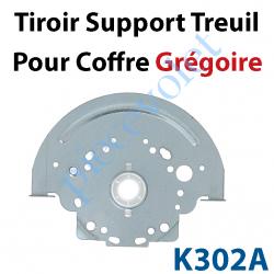 K302A Tiroir Support Treuil ou Palier en Acier Galvanisé 15/10 Avec palier en Polyacéthal pour Coffre Grégoire