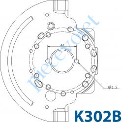 K302B Tiroir Support Treuil ou Palier en Acier Galvanisé 15/10 pour Coffre Grégoire
