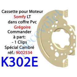 K302E Tiroir Support Moteur Somfy LT en Acier Galvanisé 15/10 pour Coffre Grégoire