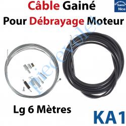 KA1 Câble Gainé Longueur 6 m pour Débrayage de Moteurs